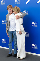 U.S. actors Robert Redford, left, and Jane Fonda attend a photo call for the movie 'Our Souls At Night' at the 74th Venice Film Festival, Venice Lido, September 1, 2017. <br /> UPDATE IMAGES PRESS/Marilla Sicilia<br /> <br /> *** ONLY FRANCE AND GERMANY SALES ***