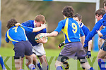 Intermediate School, Killorglin v Tralee CBS during the Giles.Cup game between the schools at O'Dowd Park on Thursday. The Intermediate School, finalists last season,.advanced to the second round.   Copyright Kerry's Eye 2008