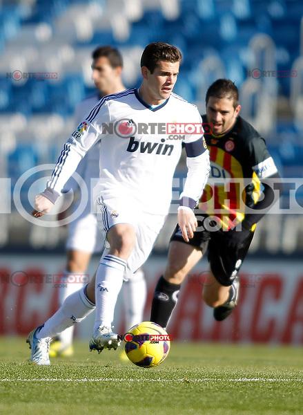Real Madrid Castilla's Nacho Fernandez during La Liga match. January 13, 2013. (ALTERPHOTOS/Alvaro Hernandez)