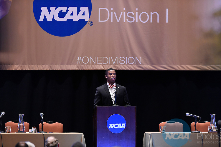15 JAN 2016: The NCAA Division I Issues Forum during the 2016 NCAA Convention takes place at the Grand Hyatt in San Antonio, TX. Justin Tafoya/NCAA Photos
