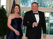 United States Secretary of State Mike Pompeo and Susan Pompeo arrivesfor the State Dinner hosted by United States President Donald J. Trump and First lady Melania Trump in honor of Prime Minister Scott Morrison of Australia and his wife, Jenny Morrison, at the White House in Washington, DC on Friday, September 20, 2019.<br /> Credit: Ron Sachs / Pool via CNP