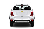 Straight rear view of a 2019 Chevrolet Trax LT 5 Door SUV stock images