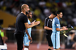Manchester City Manager Pep Guardiola reacts during the 2016 International Champions Cup China match against Borussia Dortmund at the Shenzhen Stadium on 28 July 2016 in Shenzhen, China. Photo by Victor Fraile / Power Sport Images