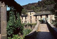 Europe/France/Midi-Pyrénées/12/Aveyron/Brousse-le-Château : Vieux pont et le château