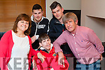 Luke Graham with his family at his home in Dingle on Monday evening, Margaret,John,Rob and Paudie Graham.