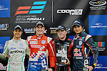 Race 1 Podium - British F3 Oulton Park 2012
