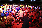 Students participate in the line dance at DanceBlue on March 3, 2012 in Memorial Coliseum.