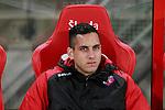 Nederland, Utrecht, 30 maart 2012.Eredivisie .Seizoen 2011-2012.FC Utrecht-Excelsior (3-2).Roberto Fernandez, keeper (doelman) van FC Utrecht zit op de reservebank
