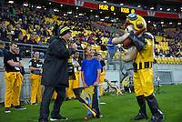 Captain Hurricane is interviewed before the Super Rugby match between the Hurricanes and Southern Kings at Westpac Stadium, Wellington, New Zealand on Friday, 25 March 2016. Photo: Dave Lintott / lintottphoto.co.nz