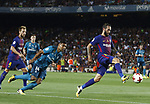 Aleix Vidal in action during Supercopa de España game 1 between FC Barcelona against Real Madrid at Camp Nou