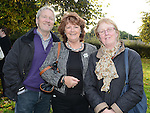 Pat and Mary Friel and Linda Curran at the end of the walk for Jill Meagher in Dominic's park. Photo:Colin Bell/pressphotos.ie