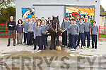 PRIDE OF PLACE: Pictured are students from Tarbert Comprehensive school who deisgned, made and mounted murals, which were launched at the Old Creamery Tarbert, on Friday morning last.