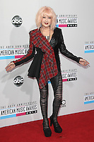 LOS ANGELES, CA - NOVEMBER 18: Cyndi Lauper at the 40th American Music Awards held at Nokia Theatre L.A. Live on November 18, 2012 in Los Angeles, California. Credit: mpi20/MediaPunch Inc. NortePhoto