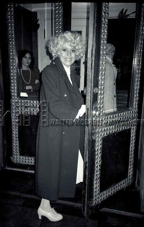 Carol Channing photographed in New York City.<br /> October 1984