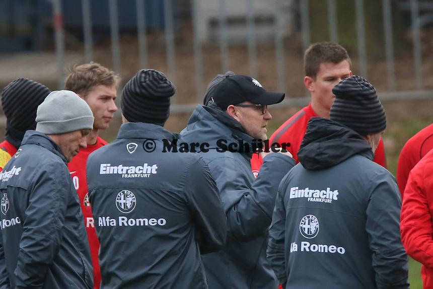 Ansprache von Trainer Thomas Schaaf - Eintracht Frankfurt Training, Commerzbank Arena