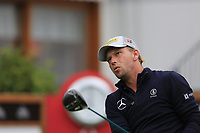 Marcel Siem (GER) tees off the 1st tee during Saturday's Round 3 of the 2017 Omega European Masters held at Golf Club Crans-Sur-Sierre, Crans Montana, Switzerland. 9th September 2017.<br /> Picture: Eoin Clarke | Golffile<br /> <br /> <br /> All photos usage must carry mandatory copyright credit (&copy; Golffile | Eoin Clarke)