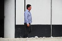 SAO PAULO, SP, 02.12.2013 - OBRAS ITAQUERAO - Andrés Sanchez, operarios retomam nesta segunda-feira, 02 as obras da Arena Corinthians (Itaquerao) apos o acidente que aconteceu na ultima semana. Foto: Adriano Lima / Brazil Photo Press).
