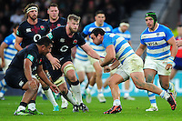 Agustin Creevy of Argentina takes on the England defence. Old Mutual Wealth Series International match between England and Argentina on November 26, 2016 at Twickenham Stadium in London, England. Photo by: Patrick Khachfe / Onside Images