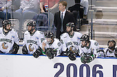 Rylan Kaip, Matt Watkins, Andrew Kozek, Dave Hakstol, Brad Miller, Mike Prpich, Rastislav Spirko - The Boston College Eagles defeated the University of North Dakota Fighting Sioux 6-5 on Thursday, April 6, 2006, in the 2006 Frozen Four afternoon Semi-Final at the Bradley Center in Milwaukee, Wisconsin.
