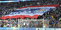 Leicester City fans hold a giant banner in memory of Vichai Srivaddhanaprabha<br /> <br /> Photographer Kevin Barnes/CameraSport<br /> <br /> The Premier League -  Cardiff City v Leicester City - Saturday 3rd November 2018 - Cardiff City Stadium - Cardiff<br /> <br /> World Copyright © 2018 CameraSport. All rights reserved. 43 Linden Ave. Countesthorpe. Leicester. England. LE8 5PG - Tel: +44 (0) 116 277 4147 - admin@camerasport.com - www.camerasport.com