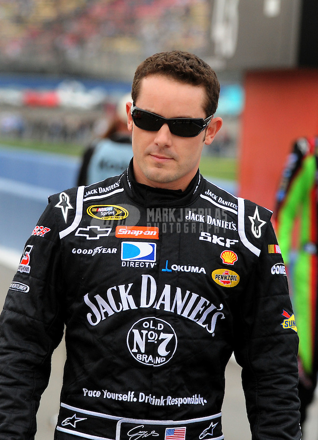 Feb 22, 2009; Fontana, CA, USA; NASCAR Sprint Cup Series driver Casey Mears during the Auto Club 500 at Auto Club Speedway. Mandatory Credit: Mark J. Rebilas-