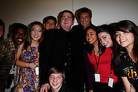 Barry Manilow and students.Premier U.S.A. Arts High 25th Anniversary Celebration at the Ahmanson Theater in Los Angeles, California.17 April 2010.Photo by Nina Prommer/Milestone Photo