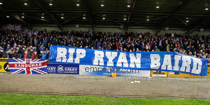 Rangers fans tribute to tragic Gers supporter Ryan Baird