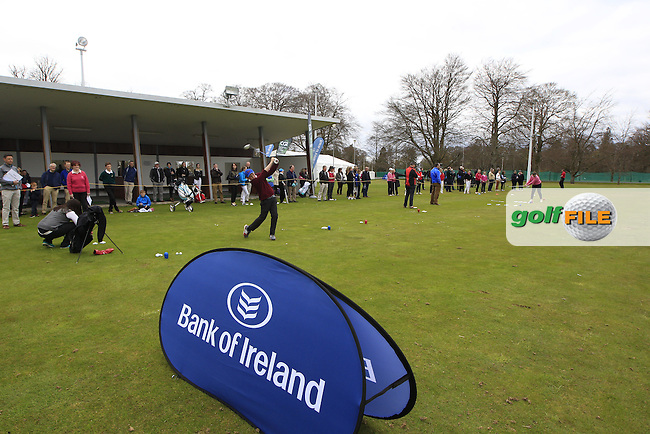 Regional Finalists hone their skills at the national finals of the Dubai Duty Free Irish Open Skills Challenge supported by Bank of Ireland in conjunction with CGI at the GUI National Golf Academy, Carton House, Maynooth, Co Kildare. 24/04/2016.<br /> Picture: Golffile | Fran Caffrey<br /> <br /> <br /> All photo usage must carry mandatory copyright credit (&copy; Golffile | Fran Caffrey)