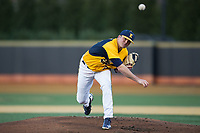 Kent State Golden Flashes starting pitcher Zach Willeman (23) delivers a pitch to the plate against the Wake Forest Demon Deacons in game two of a double-header at David F. Couch Ballpark on March 4, 2017 in  Winston-Salem, North Carolina.  The Demon Deacons defeated the Golden Flashes 5-0.  (Brian Westerholt/Four Seam Images)