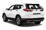 Car pictures of rear three quarter view of 2019 Honda CR-V LX 5 Door SUV Angular Rear