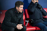 Atletico de Madrid coach Diego Pablo Simeone during King's Cup match between Atletico de Madrid and Lleida Esportiu at Wanda Metropolitano in Madrid, Spain. January 09, 2018. (ALTERPHOTOS/Borja B.Hojas)