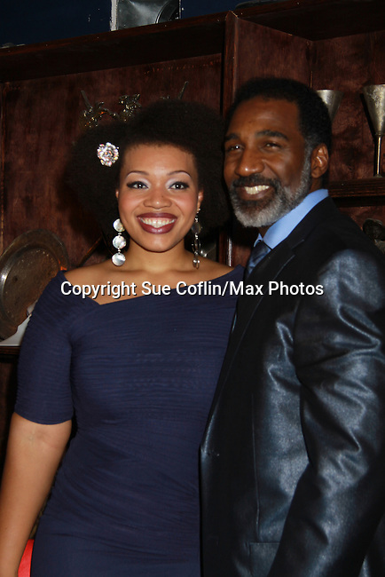 All My Children Norm Lewis poses with Carmen Ruby Floyd at the Gershwins' Porgy and Bess on Opening Night - January 12, 1212 at the Richard Rogers Theatre, New York City, New York.  (Photo by Sue Coflin/Max Photos)