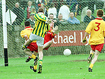 Action from the Louth Minor Final in Haggardstown on Sunday..Picture Paul Mohan Newsfile