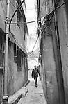 Shatila, UNRWA camp. The narrow streets of the camp.<br />  <br /> Chatila, camp de l'UNRWA. Les ruelles &eacute;troites du camp.