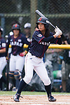 #77 Watanabe Nana of Japan bats during the BFA Women's Baseball Asian Cup match between South Korea and Japan at Sai Tso Wan Recreation Ground on September 2, 2017 in Hong Kong. Photo by Marcio Rodrigo Machado / Power Sport Images