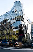 Building by architect Juan Coll-Barreu. Bilbao travel assignment National Geographic Traveler en Español. Bilbao, Spain, December 2008