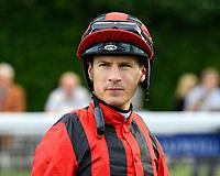 Jockey Richard Kingscote during Evening Racing at Salisbury Racecourse on 3rd September 2019
