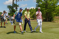 Billy Horschel (USA) and Scott Piercy (USA) head down 2 during Round 2 of the Zurich Classic of New Orl, TPC Louisiana, Avondale, Louisiana, USA. 4/27/2018.<br /> Picture: Golffile | Ken Murray<br /> <br /> <br /> All photo usage must carry mandatory copyright credit (&copy; Golffile | Ken Murray)