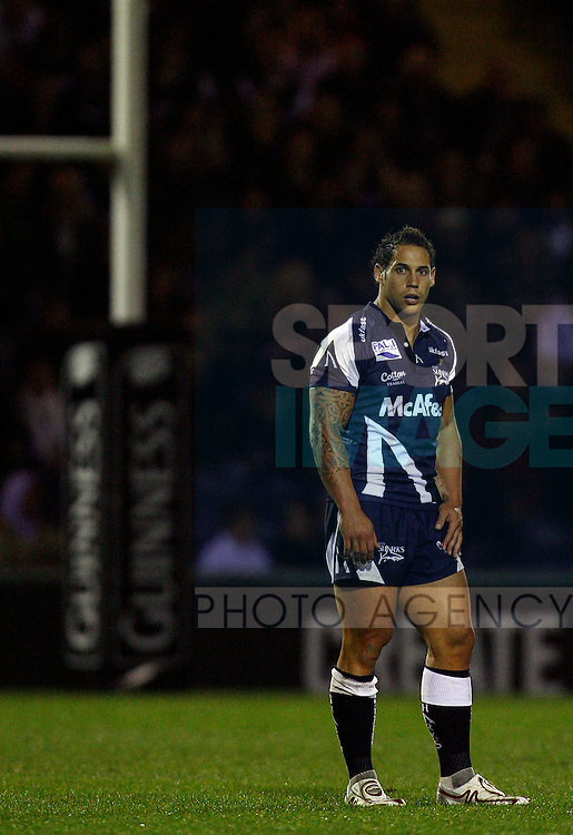 Luke McAlister of Sale..Guinness Premiership..Sale Sharks v Saracens..12th September, 2008..--------------------..Sportimage +44 7980659747..admin@sportimage.co.uk..http://www.sportimage.co.uk/