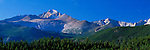 Longs Peak and Front Range, blue sky, Rocky Mountain National Park, Colorado, USA.