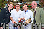 Emir Corridan, conference banqueting manager The Malton, John O'Leary, head chef The Malton, Paul O'Gorman, intsructor and Richard Mulchinock, Killarney Jobs Club, pictured at the launch of a sixteen week culinary skills programme which will commence at the hotel on August 31st........