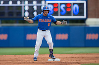 Jonathan India (6) of the Florida Gators stands on second base during the game against the Wake Forest Demon Deacons in Game Three of the Gainesville Super Regional of the 2017 College World Series at Alfred McKethan Stadium at Perry Field on June 12, 2017 in Gainesville, Florida. The Gators defeated the Demon Deacons 3-0 to advance to the College World Series in Omaha, Nebraska. (Brian Westerholt/Four Seam Images)
