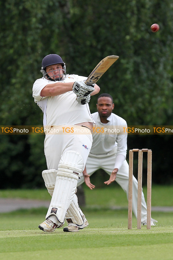 R Rafferty in batting action for Hornchurch Athletic - Hornchurch Athletic CC vs Hawks CC - Essex Cricket League at Hylands Park - 23/06/12 - MANDATORY CREDIT: Gavin Ellis/TGSPHOTO - Self billing applies where appropriate - 0845 094 6026 - contact@tgsphoto.co.uk - NO UNPAID USE.