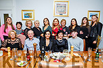 Niamh Kennedy of Aunascaul, seated centre, enjoying her birthday celebrations with her family and friends in Bella Bia on Saturday night. Seated l-r, Joan Maunsell, John, Niamh, Bride and Sean Kennedy.