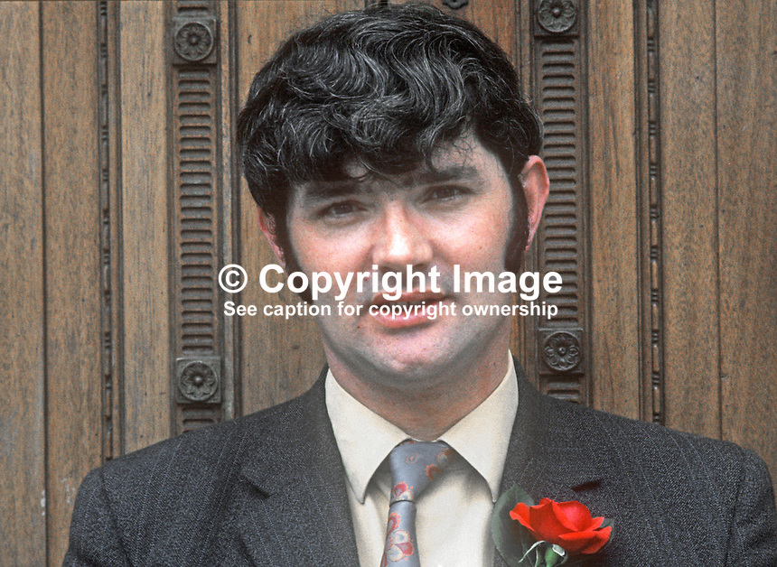 Pat McHugh, candidate, N Ireland Labour Party, North Antrim, N Ireland Assembly Election, June 1973. 197306000480a<br />