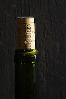 cork and bottle on a vat domaine du vissoux beaujolais burgundy france