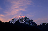 Inca Trail, Peru. Snowcapped peak of mount Salkantaay as seen from Phuyupatamarca campsite at dawn.