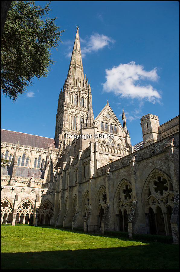 BNPS.co.uk (01202 558833)<br /> Pic: PhilYeomans/BNPS<br /> <br /> The 1st floor library above the cloisters at Salisbury - built in 1445, and presented with 30 oak trees by Henry VI to build the shelves.<br /> <br /> Latin scholar unearths ecclesiastical treasure's from the vault.<br /> <br /> Salisbury cathedral has recruited a new latin expert to decipher its precious collection of historic manuscripts which have remained unexamined for decades.<br /> <br /> Helen Sumping, 27, is working her way through thousands of documents that date back as far as 1136 at Salisbury Cathedral in Wiltshire, to uncover the secrets of the famous landmark.<br /> <br /> While some of the most important papers have had brief summaries written before, many of the documents have not been touched for centuries due to the difficulty of reading the handwritten script.<br /> <br /> The entire archive has not been worked on since the 1930s and Helen is now delving into the past to catalogue papers up to 880 years old and make the collection more accessible to the public.