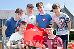 Taking part in the red run in aid of Operation resussitation at the St Brendans College Fayre on Sunday wer front l-r: Denis O'Connor, Cian Gammell. Back row: Cian Casey, Sean O'Leary, Lorcan McMonagle and Sean Doherty
