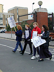 Nurses on strike outside Our lady of Lourdes Hospital..Picture Paul Mohan Newsfile